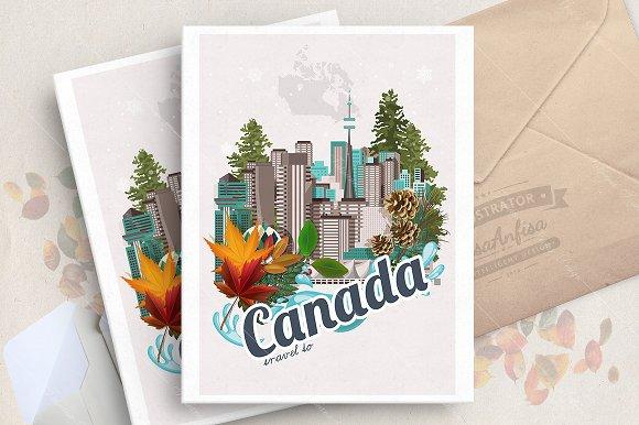 Canada Travel Vector Poster