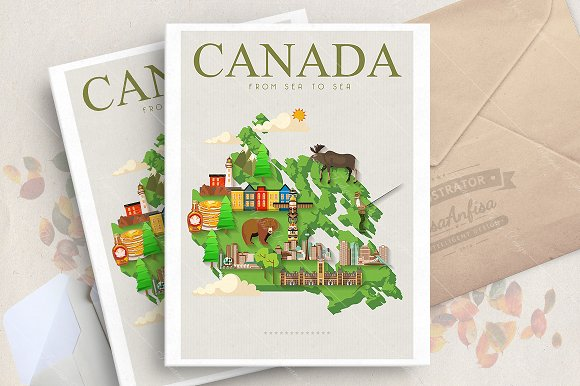 Canada Travel Vector Poster