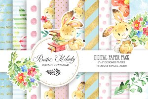 BUNNY DIGITAL PAPER PACK