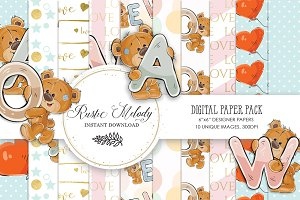 BEAR DIGITAL PAPER PACK