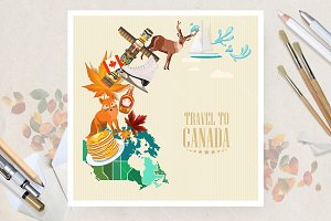 Canada. Travel vector poster