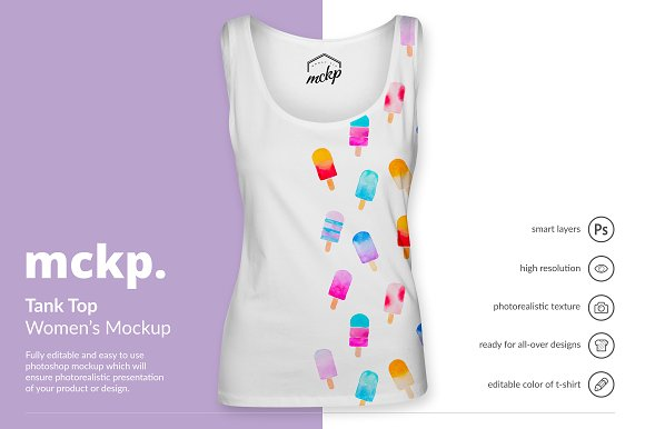 Tank Top by mckp - Women's-Graphicriver中文最全的素材分享平台