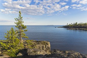Lake Ladoga, Karelia, Russia.