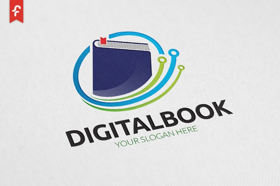 Digital Book Logo Logo Templates Creative Market