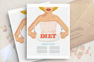 Diet food. Healthy food poster