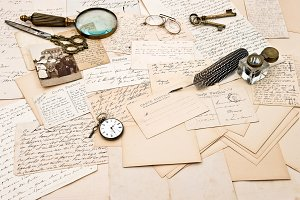 Old Letters and Family Photo