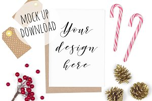Christmas Card Styled Mockup