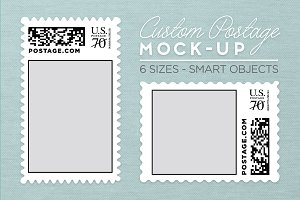 Custom Postage Stamp Template