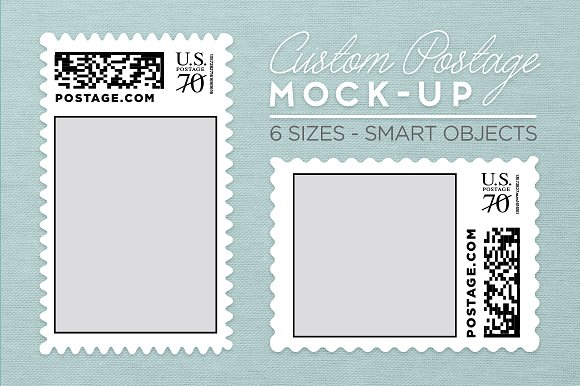 Download Custom Postage Stamp Template