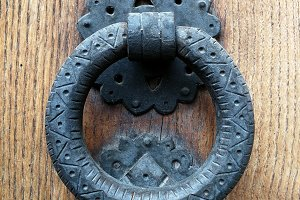 Antique metal knocker
