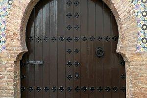 Moorish door in Granada
