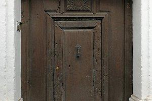 Antique door in Granada, Spain