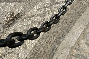 Chain and cobbled streets