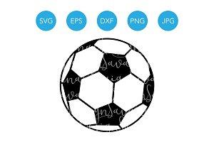 Soccer Ball SVG Soccer SVG Vector