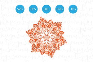 Mandala SVG Cut File Vector