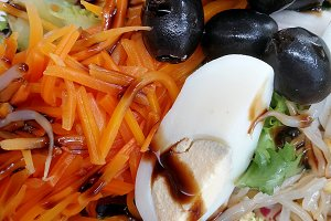 Vegetables and olives salad