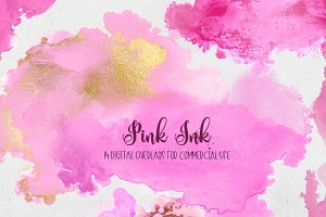 Pink Ink - PNG Design Elements