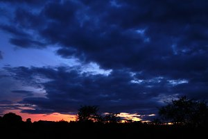 Night sky after sunset