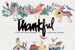 Thankful Watercolors