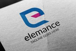 Letter E - Elemance Logo