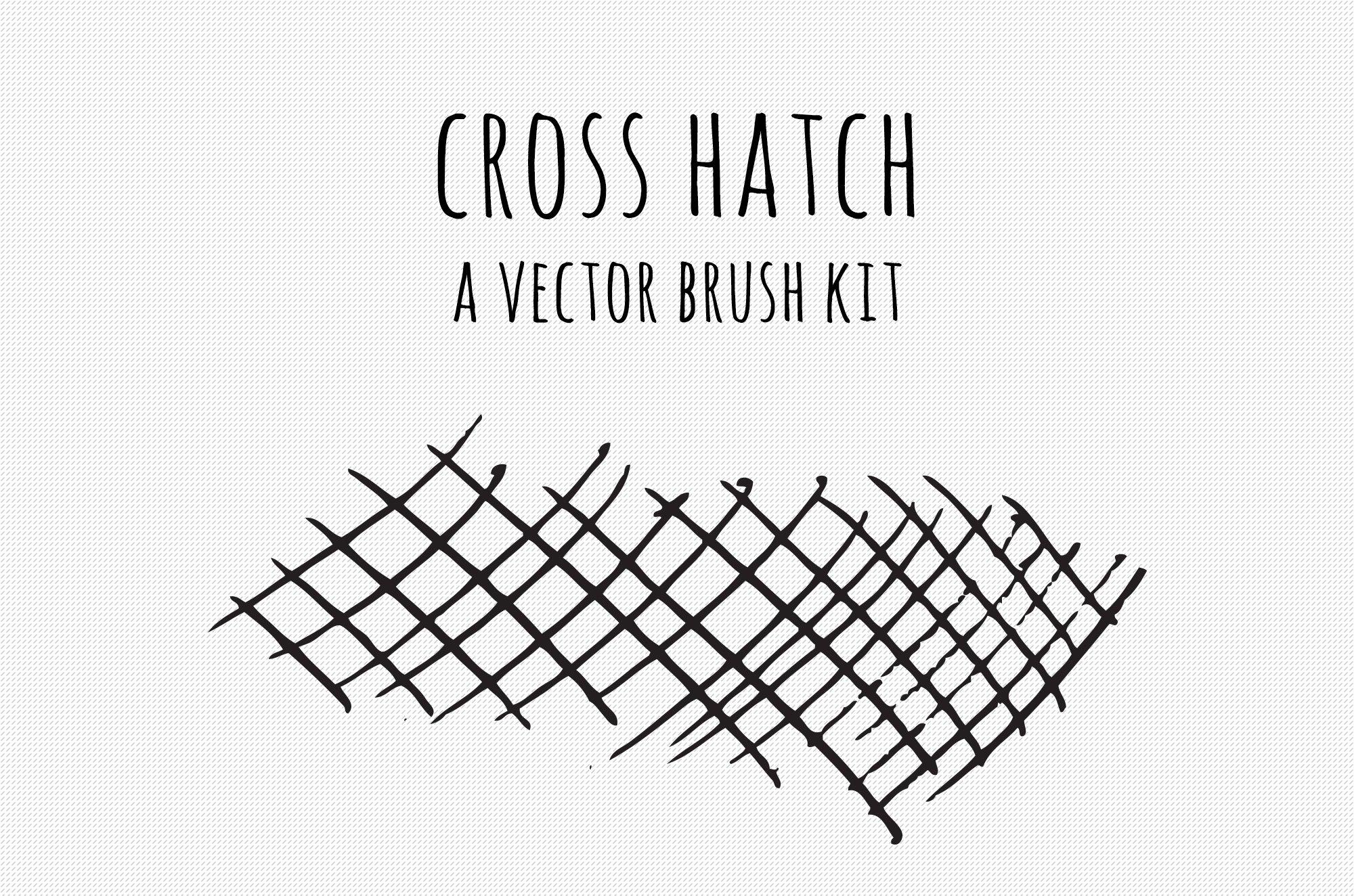 Vector Cross Hatch Brush Kit ~ Illustrator Add-Ons