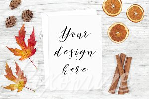 Fall Card Mockup Styled Photograph