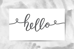 Hello, 5 watercolor cards