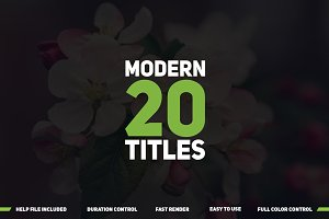 20 Modern Titles : After Effects