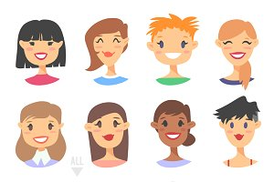 56 Cartoon people avatars
