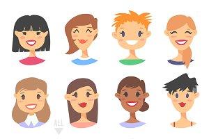 56 Cartoon people avatars