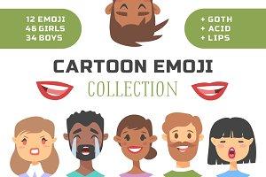 80 Cartoon people emoji