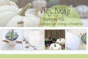 White Pumpkin Instagram Overlays