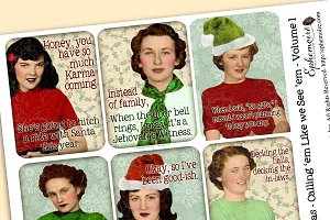 Snarky Holiday Guest - Journal Cards