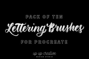 Ten Procreate Lettering Brushes