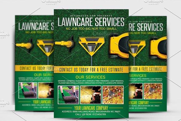 Lawn & Garden Care Flyer Template ~ Flyer Templates ~ Creative Market
