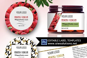 Round Label Template ID31