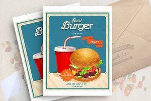 Burger. Fastfood. Vector.