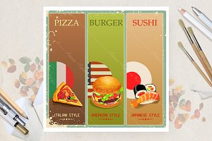 Burger. Sushi. Pizza