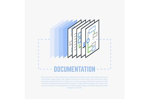 Documentation process line illustration