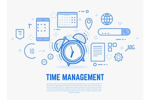 Time management alarm clock