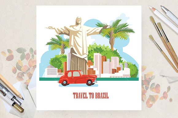 Brazil Travel Vector Poster