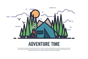 Adventure time camping