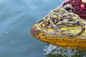 Boat on Ganges river