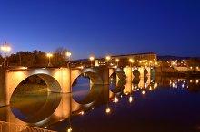 Stone bridge at dusk