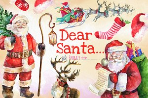 Christmas clipart. Santa clipart