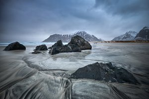 Skagsanden beach, Lofoten islands, Norway