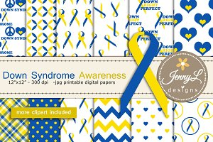 Down Syndrome Awareness Digi Paper