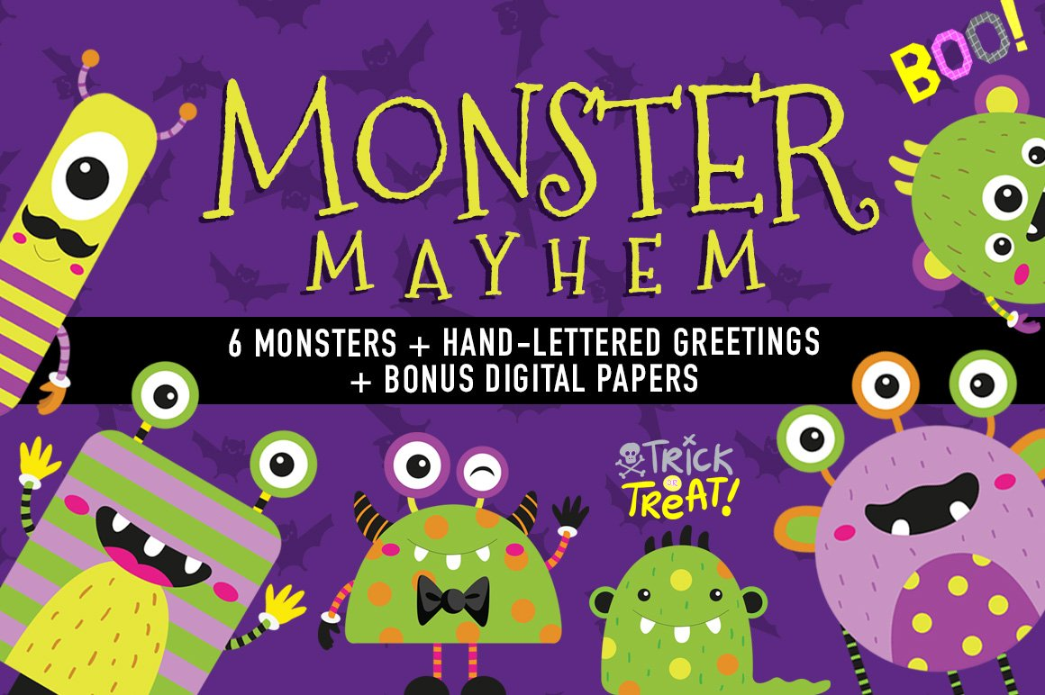 Monster Mayhem ~ Illustrations ~ Creative Market