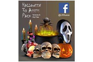 Halloween 3d Assets Pack