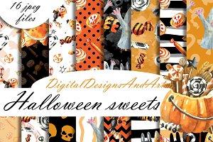 Halloween sweets paper